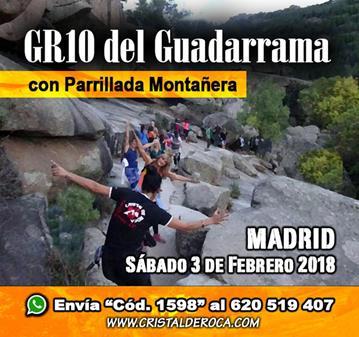 RUTA: GR -10 DEL GUADARRAMA CON PARRILLADA MONTAÑERA