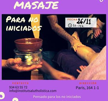 TALLER: INICIACIÓN AL MASAJE