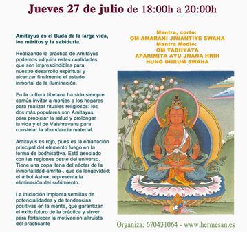 EVENTO: INICIACIÓN DE AMITAYUS (PARA LONGEVIDAD Y SALUD)