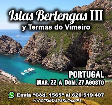 VIAJE: ISLAS BERLENGAS III-TERMAS DO VIMEIRO (SOMOS 37)