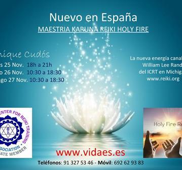 CLASE: MAESTRÍA DE KARUNA REIKI HOLY FIRE