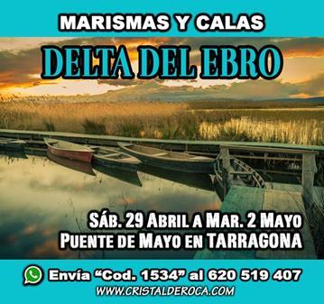 VIAJE: MARISMAS DELTA DEL EBRO / YA SOMOS 46 - ÚLTIMAS 4