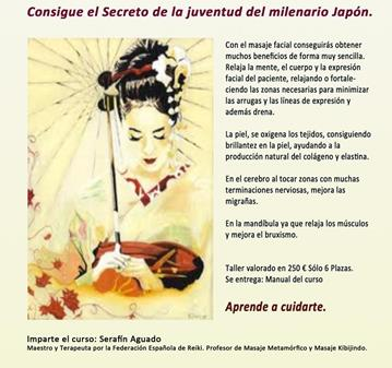 CURSO: MASAJE LIFTING JAPONÉS