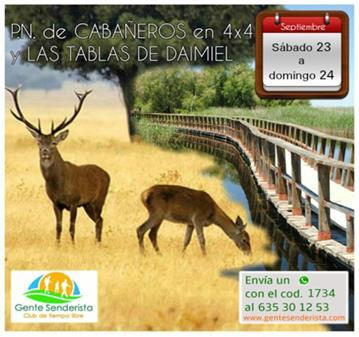 VIAJE: P.N. DE CABAÑEROS EN 4X4 Y TABLAS DE DAIMIEL