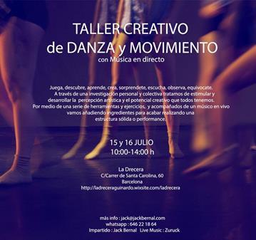 TALLER CREATIVO DE DANZA Y MOVIMIENTO