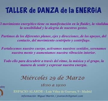 TALLER DE DANZA DE LA ENERGÍA