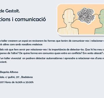 TALLER DE GESTALT · RELACIONS I COMUNICACIÓ