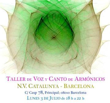 TALLER INTENSIVO DE VOZ Y CANTO DE ARMÓNICOS