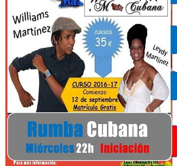 CURSO: RUMBA CUBANA NIVEL INICIAL CON LEYDY MARTÍNEZ