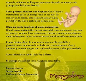 CURSO DE MASAJE METAMÓRFICO