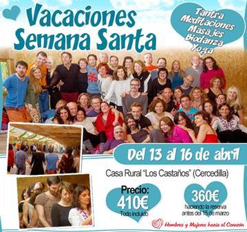CURSO: VACACIONES DE SEMANA SANTA (DEL 13 AL 16 DE ABRIL)