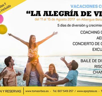 EVENTO: VACACIONES DE VERANO - ALEGRIA DE VIVIR - 11AGOSTO