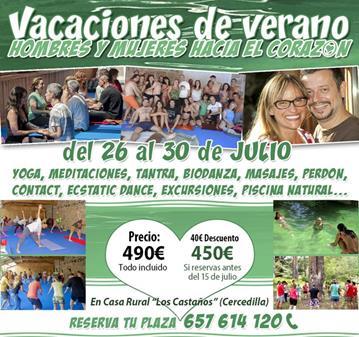 EVENTO: VACACIONES DE VERANO (DEL 26 AL 30 DE JULIO)