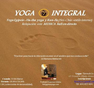 CLASE: YOGA INTEGRAL: YOGA EGIPCIO, HA-THA YOGA, KUNG FU