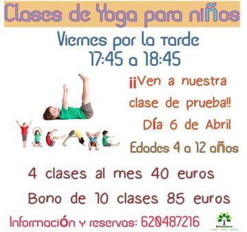 CLASE: YOGA PARA NIÑOS