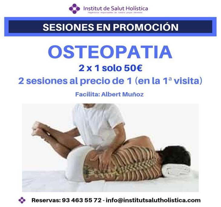 2 x 1 DOS SESIONES DE OSTEOPATIA AL PRECIO DE UNA - pic0