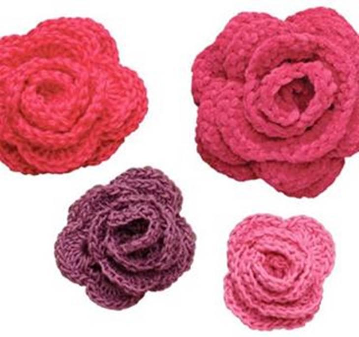 Aprende a hacer rosas de ganchillo uolala - Hacer flores de ganchillo ...