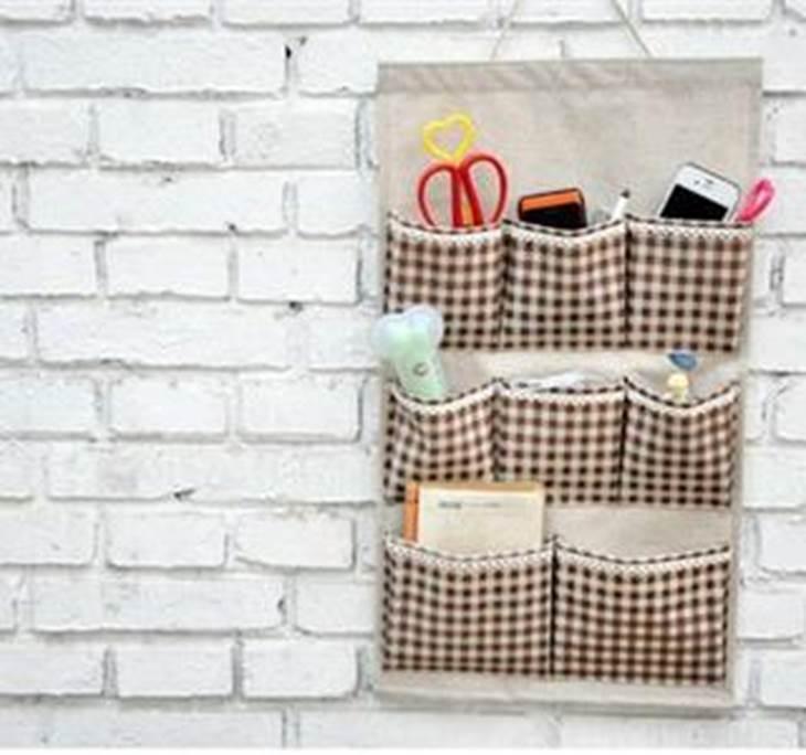 Organizador para el ba o de tela for Jabonera de pared bano