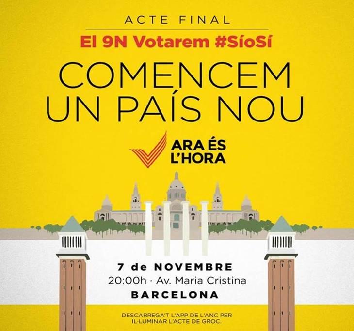 9N Acte final, votarem SíoSí: comencem un país nou - pic0