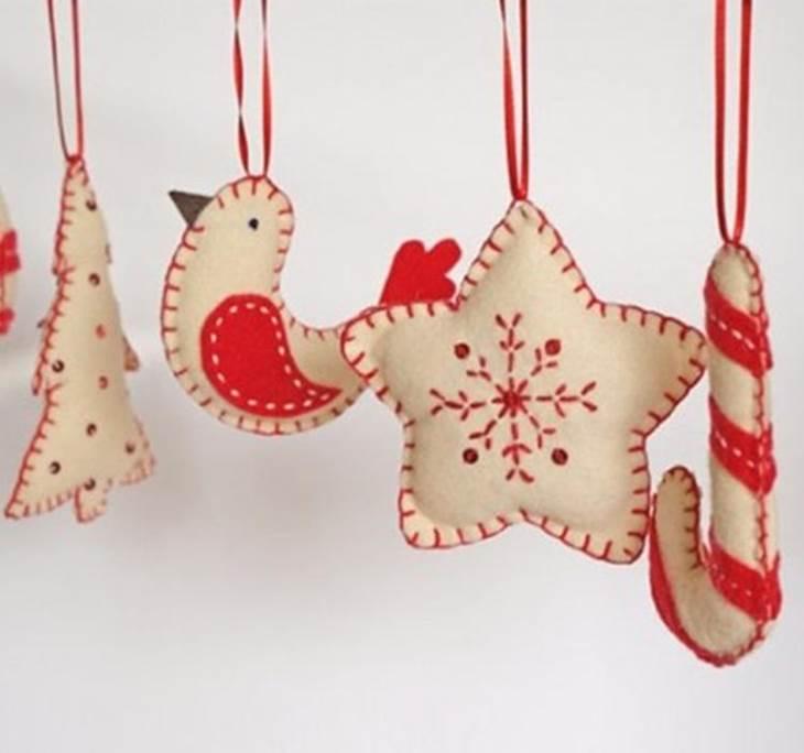 Adornos de fieltro para navidad uolala - Manualidades para hacer adornos navidenos ...