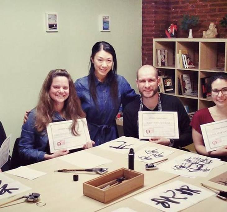 Caligrafía japonesa SHODO y poesía en sala cultura - pic0