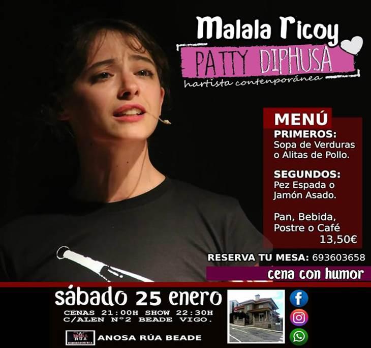 Cena Monólogo con Malala Ricoy en Vigo - pic0