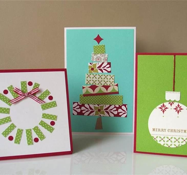 Tarjetas navide as hechas a mano uolala - Tarjetas de navidad manuales ...