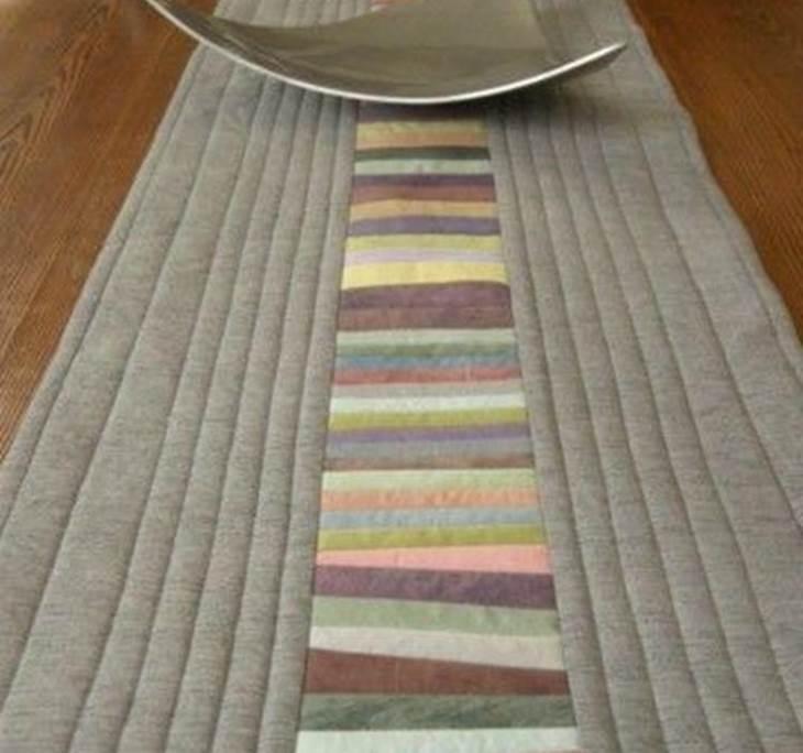 Taller camino de mesa estilo patchwork uolala - Camino mesa patchwork ...