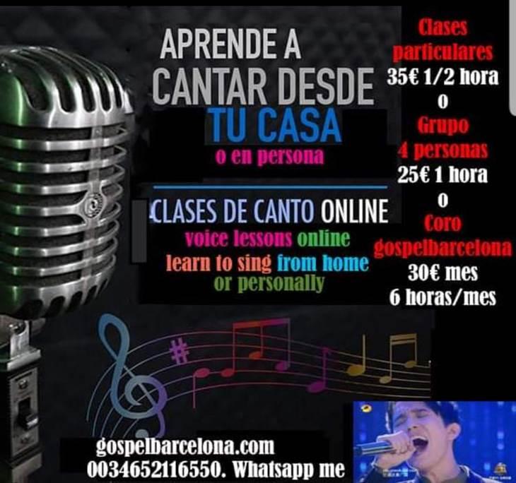 ensayo online GospelBarcelona  1er día Gratis - pic0