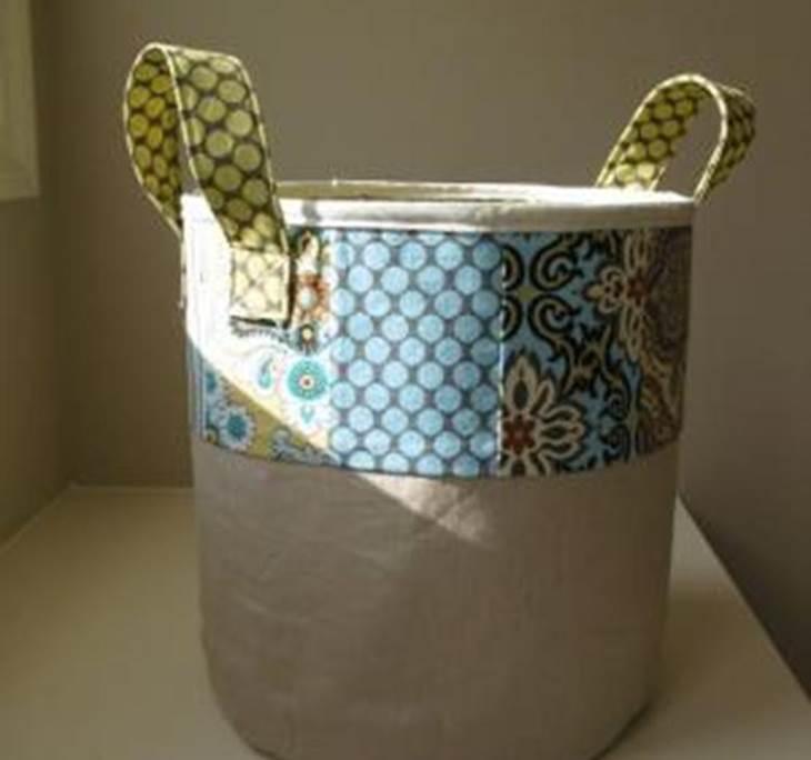 Hacemos un cesto alto de tela uolala - Cestos de tela ...