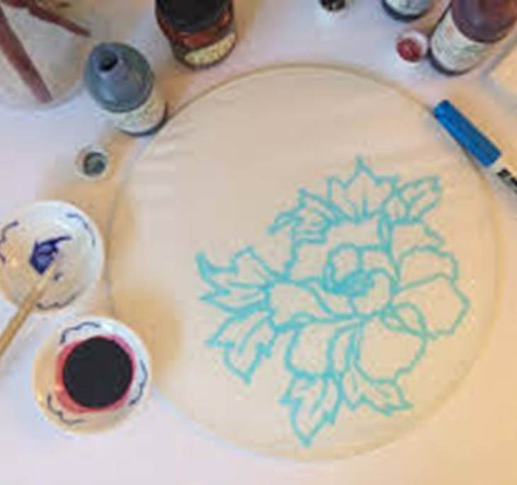 Pintura sobre seda - pic0