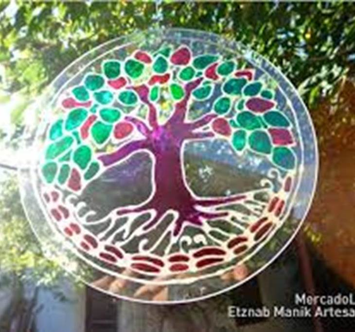 Mandalas pintados sobre cristal - pic3