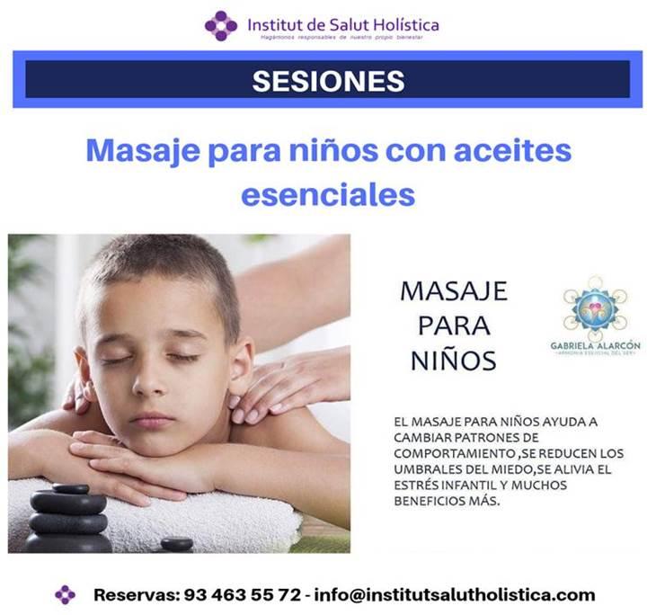 masaje para niños, aceites esenciales en promoción - pic0