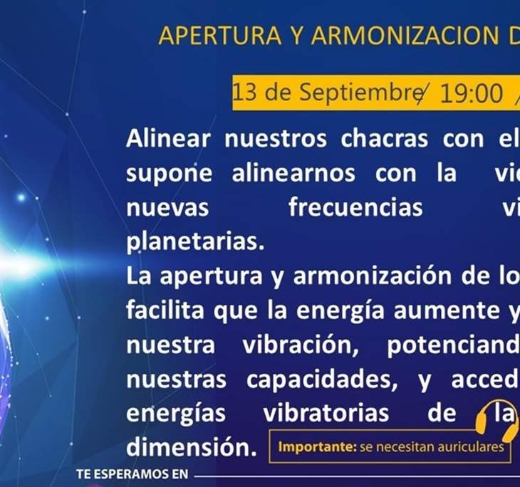 MEDITACIÓN: APERTURA Y ARMONIZACIÓN DE CHAKRAS - pic0