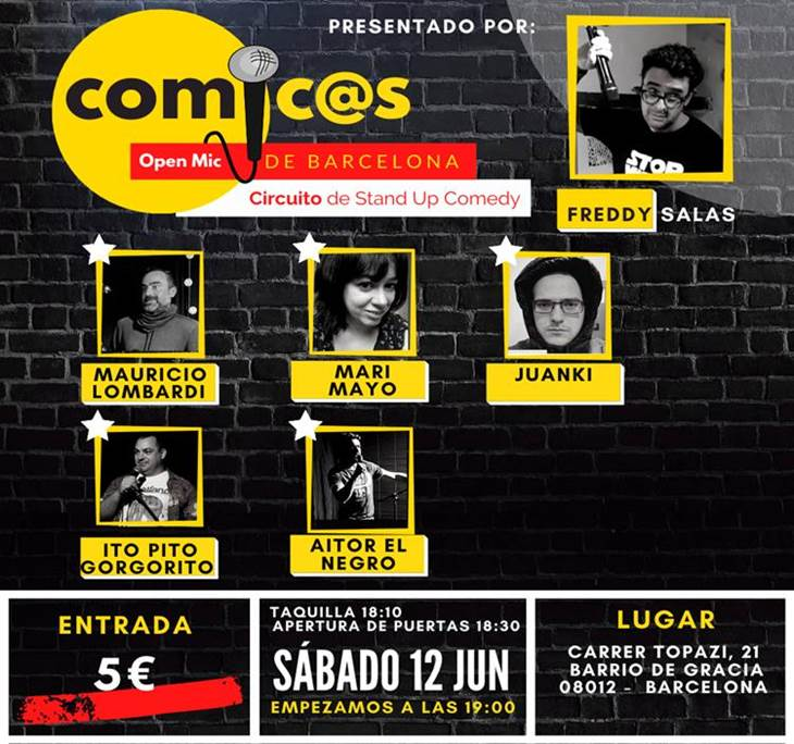 Sábado de Monólogos Cómic@s de Barcelona 12-06-21 - pic0