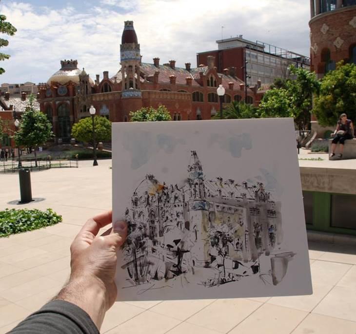 Taller: Sketching exprés en el Paseo de Gracia - pic2