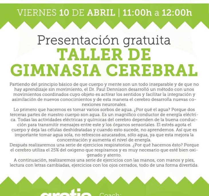 • TALLER GRATUITO DE GIMNASIA CEREBRAL • - pic0