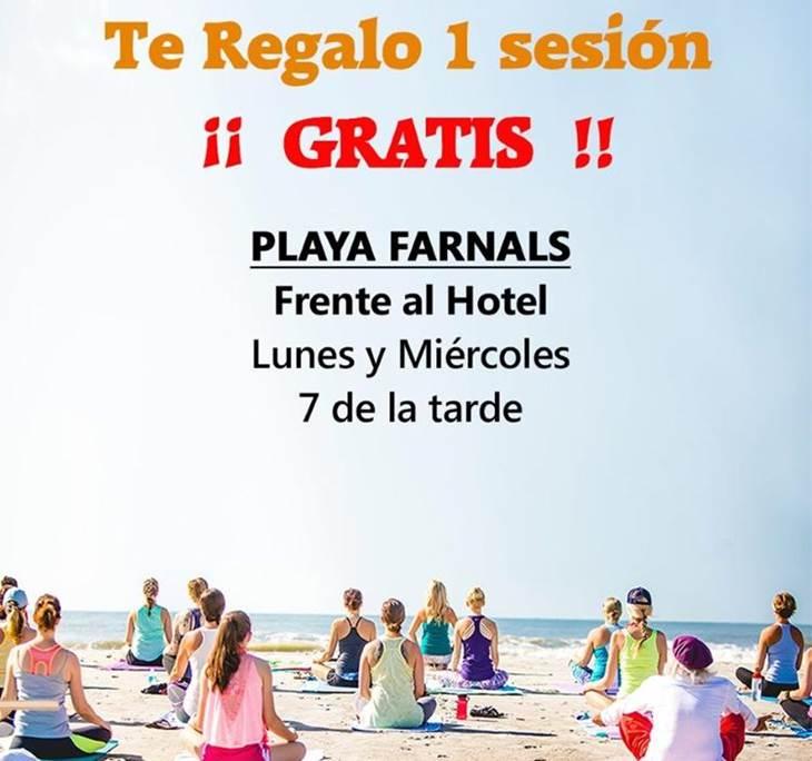 YOGA EN PLAYA FARNALS - LUNES Y MIERCOLES 7 TARDE - pic0
